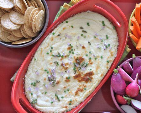 Baked Cauliflower Cheese Dip Recipe