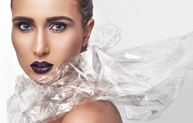 #editorial #beauty #makeup #blue #eyes #nude #eyebrows #purple #lips #photography #studio #glow