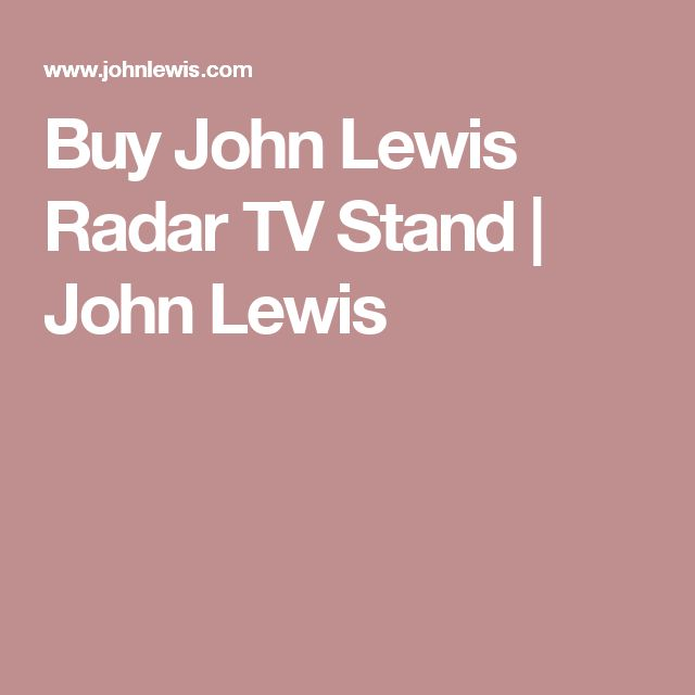 Buy John Lewis Radar TV Stand | John Lewis