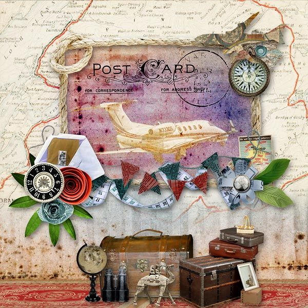 Layout using G & T DESIGNS' EXPLORE10 COLLAB ADD ON KIT . Now available at E-scape and Scrap. The add-on includes  42 Elements, 8 Papers, 2 Frames, and 3 Wordarts at 50% off