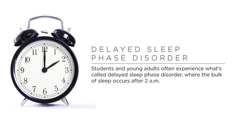 Students and young adults often experience what's called delayed sleep phase disorder, where the bulk of sleep occurs after 2 a.m. Waking up early is often a hassle for the young and the restless, but it becomes especially difficult for the folks who are affected by this disorder. Those affected usually lead completely normal lives if allowed to sleep-in adequately. Don't wake these guys up too early, though. They can become groggy, irritated or even unable to complete daily rituals. Delayed…