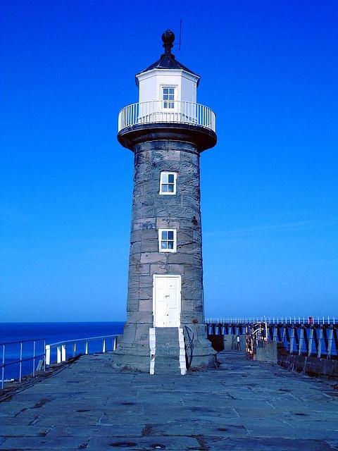 Lighthouse, Whitby, UK by phault, via Flickr