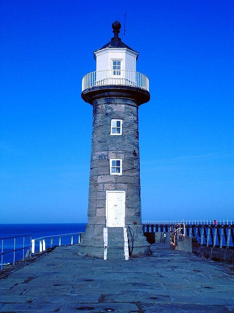 Lighthouse, Whitby, UK by phault, via Flickr