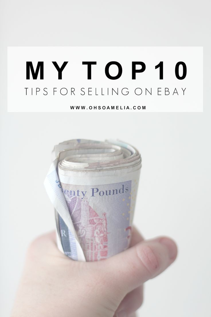My Top 10 Tips For Selling on eBay - Oh So Amelia