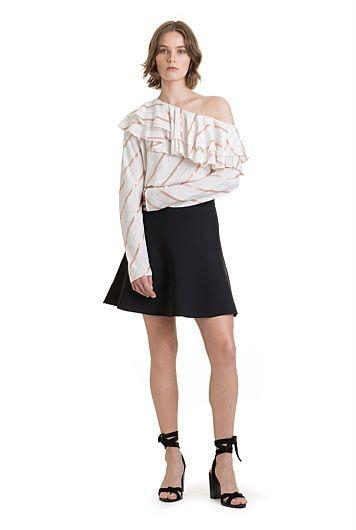One Shoulder Ruffle Top, Country Road $139.0  http://www.shopyou.com.au/ #womensfashion #shopyoustyle