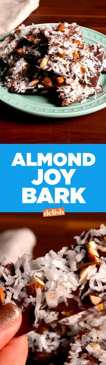 This Almond Joy Bark is the skinny twist on your favorite candy bar. Get the recipe from Delish.com.
