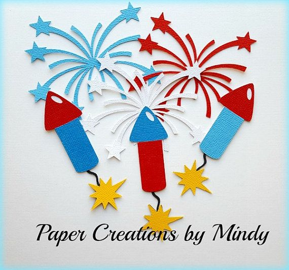 Elite4u Mindy Fireworks 4th of July by Mindyspapercreations