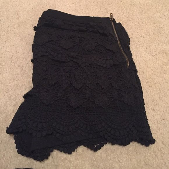 Brand new black lace shorts Brand new black lace shorts with the tag. I got the wrong size so nothing is wrong with them, they just don't fit. From a store in Canada Bluenotes Shorts