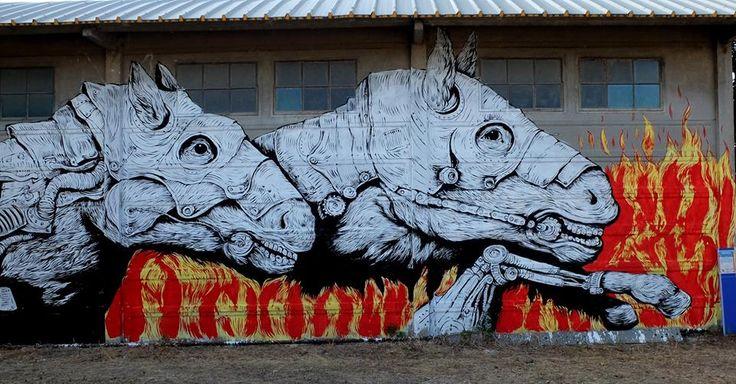 Ericailcane - Italian Street Artist - Mutonia (IT) - 08/2015 -  */  #ericalicane #streetart #italy