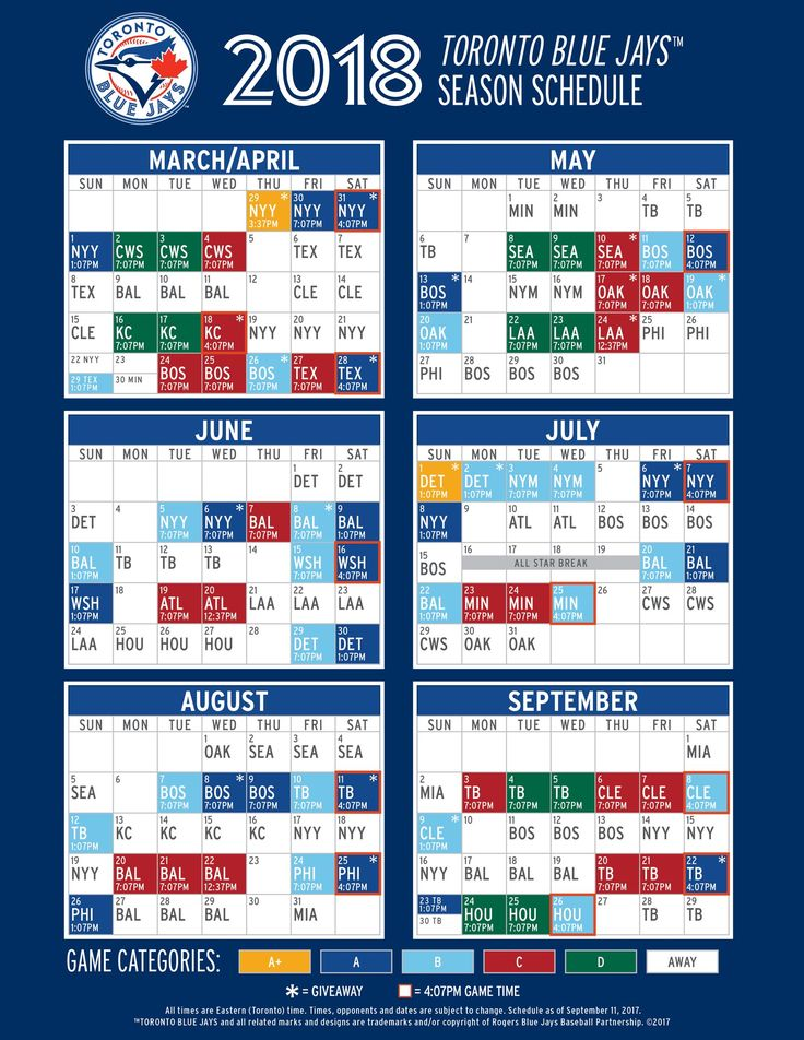 Toronto Blue Jays 2018 Schedule (1583×2048)
