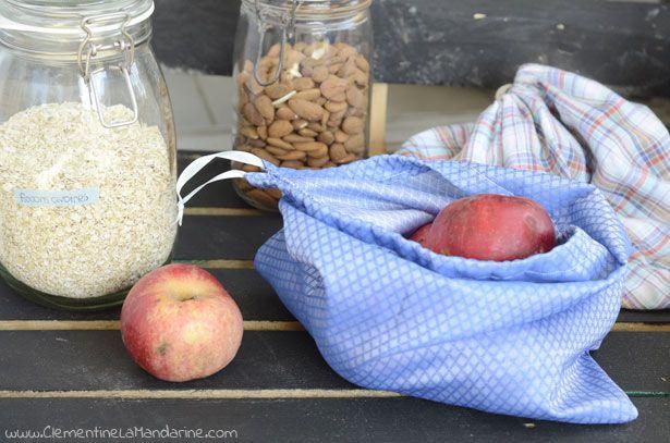 Clémentine la Mandarine | DIY : sacs à vrac pour les courses zéro déchet | http://clementinelamandarine.com