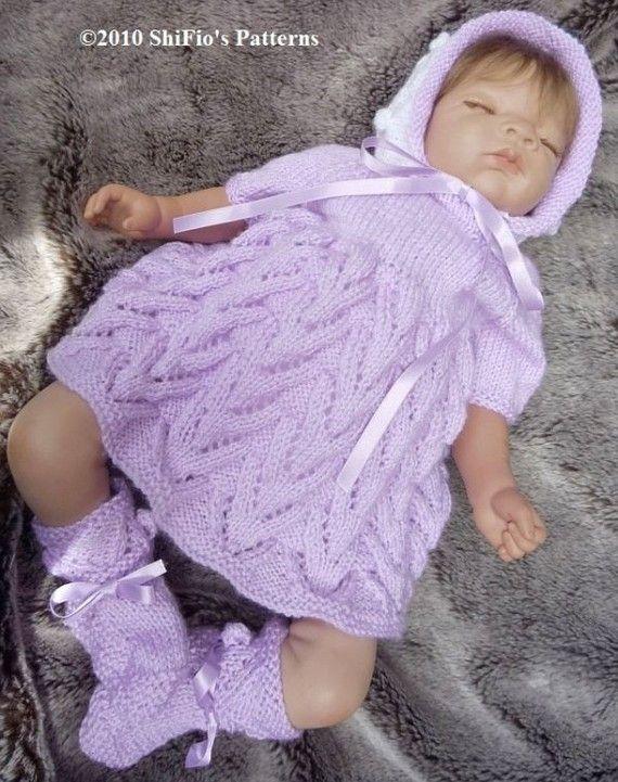 Baby Knitting Pattern Dress Hat