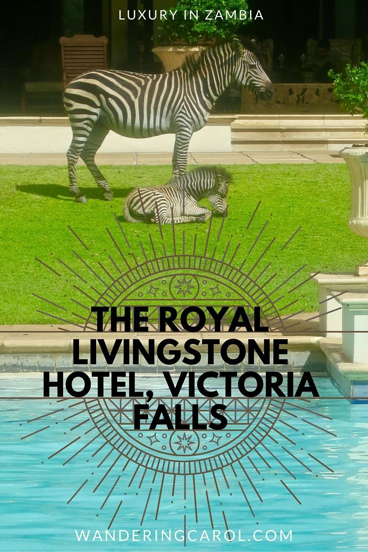 A visit to Victoria Falls in Zambia with a stay at the Royal Livingstone Hotel will inspire and awe. http://wanderingcarol.com/best-hotel-in-victoria-falls-royal-livingstone-hotel/