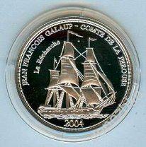 Самоа 10$ 2004 Корабль серебро