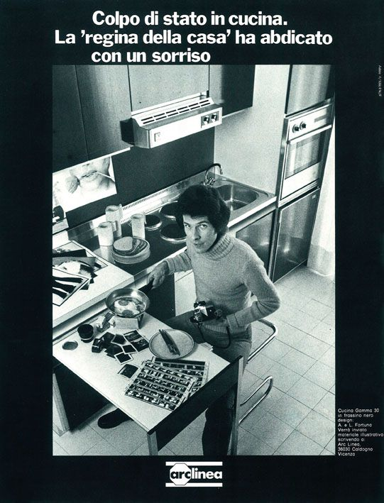 Arclinea advertisement from '70s