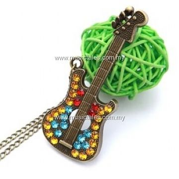 00092-Bling Guitar Necklace