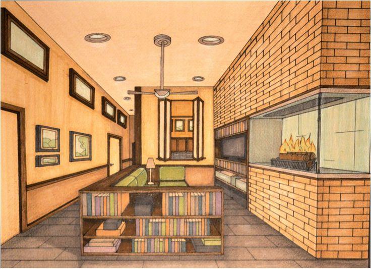 Hand Rendering Interior Design Portfolios