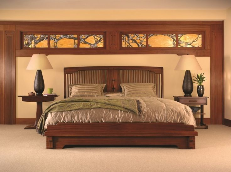 44 best arts crafts bedrooms images on pinterest for Craftsman bed