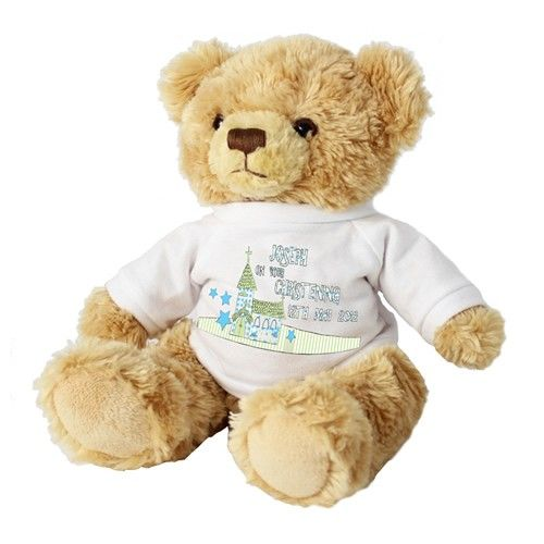 Personalised Teddy Bear for Boys - Church Design  from Personalised Gifts Shop - ONLY £16.99