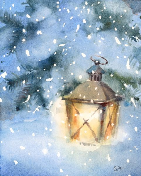 Lantern Watercolor More