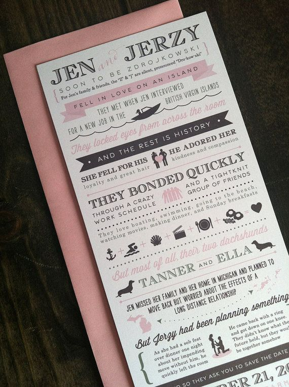 Custom Love Story Save the Date 9x4  Design Fee by AnthologiePress, $150.00