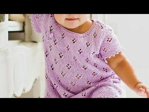 9f9622d7e Easy Jalidar Frock for Babies Jali Designs Easy Knitting for  Beginners Design-240 - YouTube