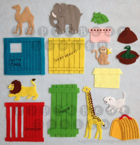 Felt Board Story Set Dear Zoo by AppleBearDesign on Etsy, $33.67