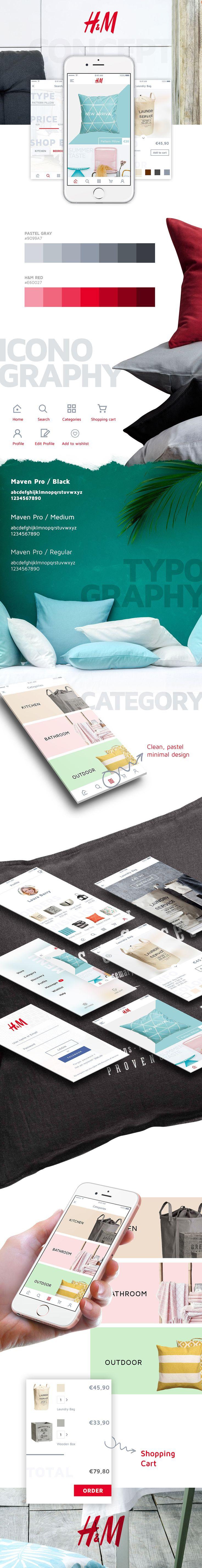 """다음 @Behance 프로젝트 확인: """"H&M - E-Commerce UI/UX iOS App Design"""" https://www.behance.net/gallery/46036515/H-M-E-Commerce-UIUX-iOS-App-Design"""