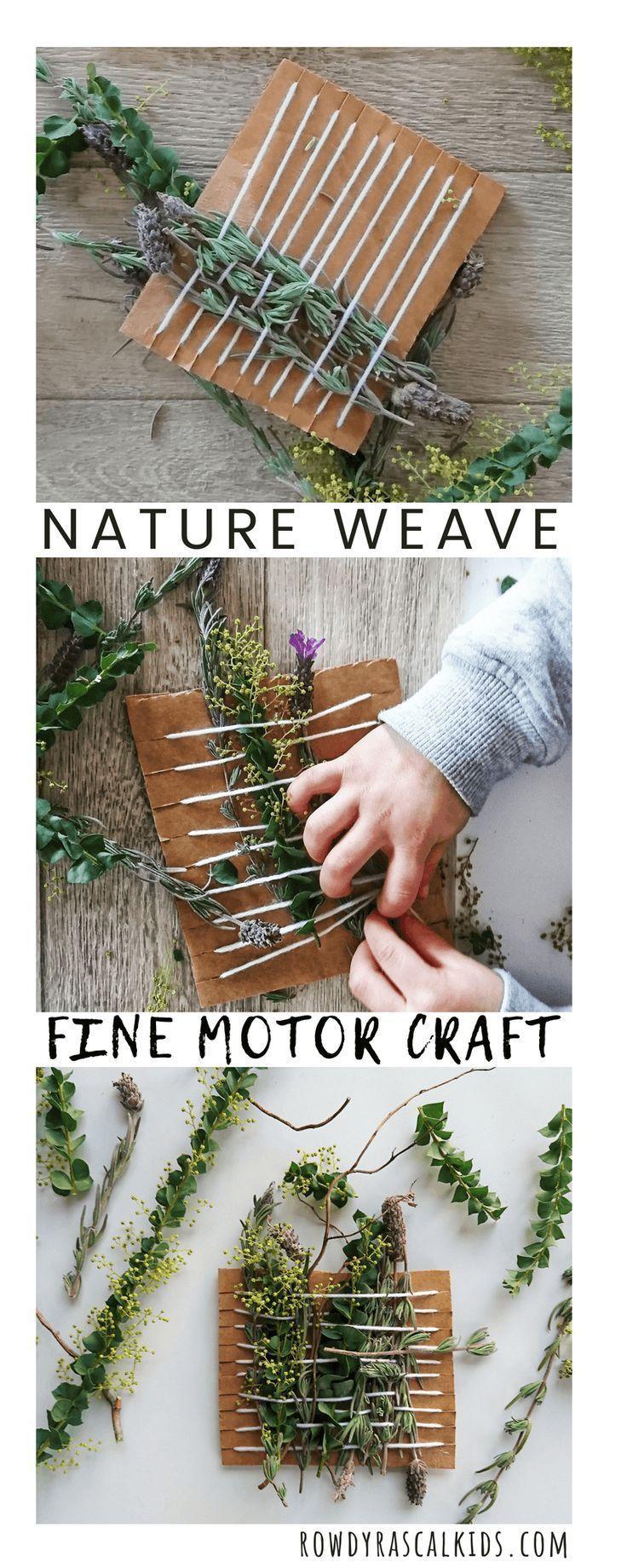 Simple Nature Weave For Kids Rowdy Rascals Naturkindergarten Kinder Basteln Mit Naturmaterialien Kunst Fur Kinder
