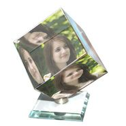 Personalized Crystal Cube Photo Frame