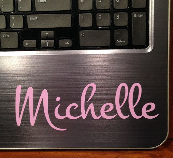 Custom Name Sticker Script Name Decal Name by SageAndSerendipity