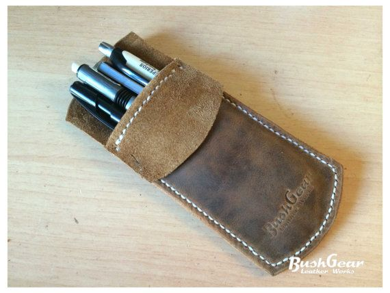 Leather Pocket Protector Pencil Pouch By Bushgear