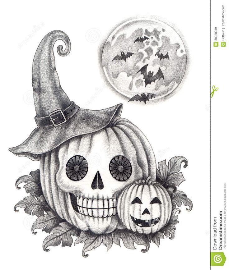 Art Skull Pumpkin Halloween Day. Download From Over 38