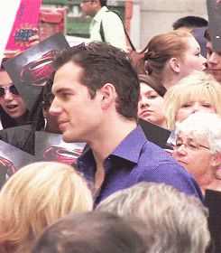 """Henry Cavill - signing for fans at TV Show """"Good Morning America, June10, 2013 ~ via Kinorri.tumblr.com Click to see full set of gifs"""