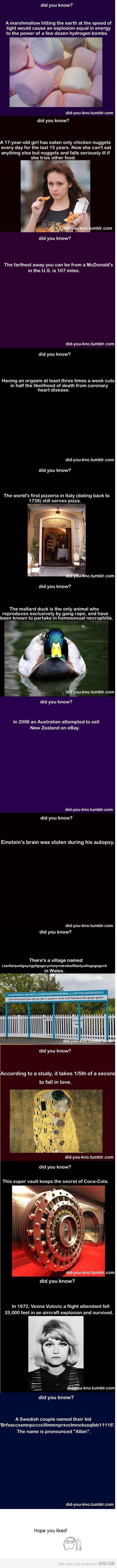 Weird facts ^_^