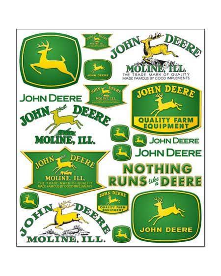 John Deere Scrapbook Stickers