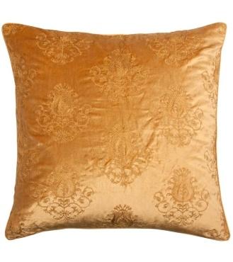 Velvet Thistle Gold Cushion 45x45cm Cushions Laura