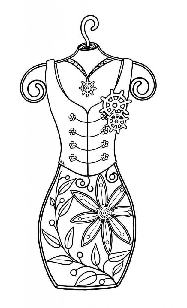 find this pin and more on clothing dress coloring for adults art pages by cherylcolors
