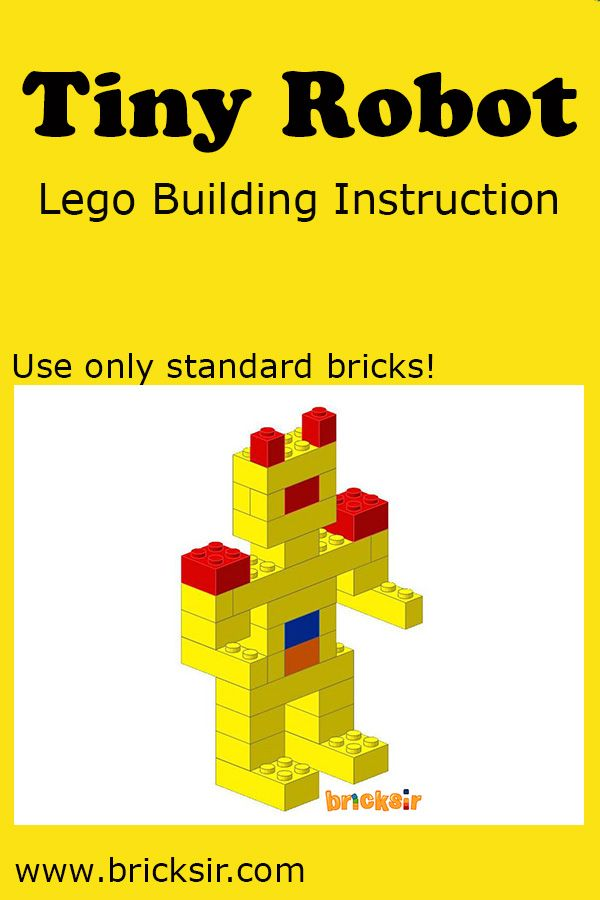 Simple Tiny Robot Lego Building Instructions. Available for iPhone and iPad. Free download at appsto.re/us/WRyX6.i #bricksir #lego #kidsactivities #homeschool www.bricksir.com