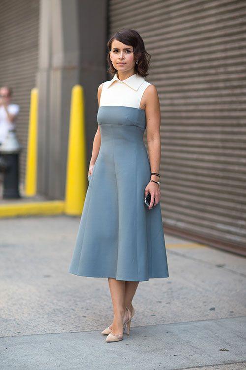 Placid Blue dress with nude heels. #placidblue