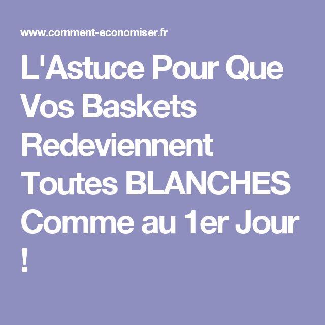 L'Astuce Pour Que Vos Baskets Redeviennent Toutes BLANCHES Comme au 1er Jour !