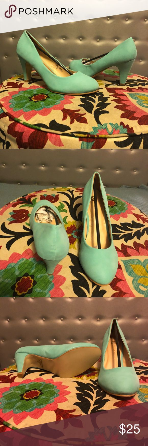 "Size 8 mint pumps Mint pump heels size 8 by Chase & Chloe, ordered new from ModCloth. Brand new never worn, comes in original box and packaging. 3"" heel, no platform. Modcloth Shoes Heels"