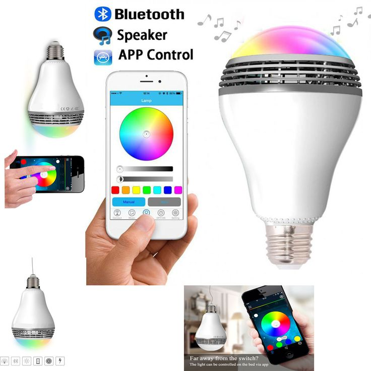 Bluetooth Speakers APP Control Smart LED Lamps for Andriod