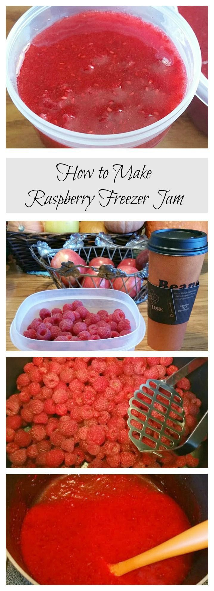 Don�t you just love homemade raspberry jam?  We�ve gotten lots of fresh raspberries from our garden this year, so I have been able to make raspberry freezer jam.  At our house we love to have raspberry jam on toast for breakfast or for a late night snack.
