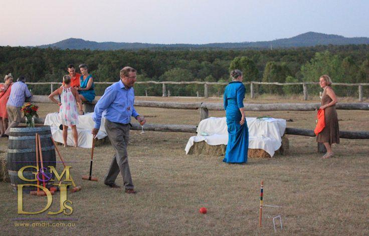 Croquet game is underway @spicersretreats  | G&M DJs | Magnifique Weddings #gmdjs #magnifiqueweddings @gmdjs #spicershiddenvale