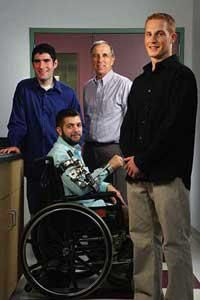 """Worcester Polytechnic Institute (WPI) is reporting that a faculty member and two graduate students have developed a motorized brace that allows people with muscular dystrophy to perform simple tasks with their hands and """"gain a greater sense of independence."""" The brace is called an arm orthosis."""