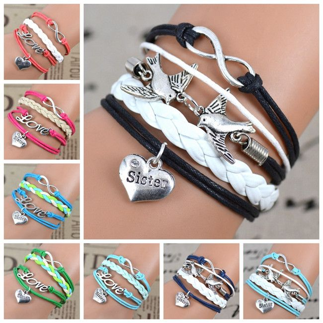 Cheap charm game, Buy Quality gift prank directly from China gift reader Suppliers:            Mix Infinity love  leather love owl  Leaf charm handmade bracelet  bangles jewelry friendship gift item