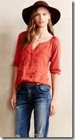 Anthropologie Silk and Cotton Blouse