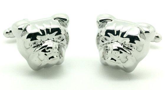 Bulldog Cufflinks - very cute.
