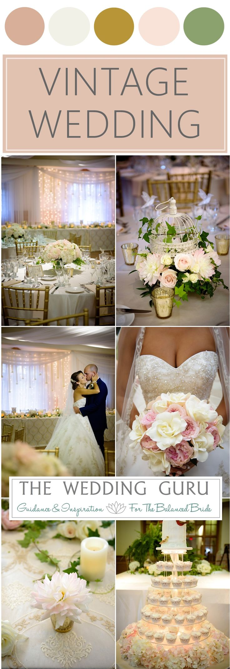 Pretty blush and gold vintage wedding in London Ontario. Photos by HRM Photography. http://www.theweddingguru.ca/pink-gold-vintage-wedding-london-ontario/ #vintage #vintagewedding